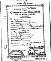 Demobilisation certificate for Mary Ann Holland, 17th October 1919.