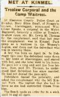 Report of the case of Small v Speake. Cambria Daily Leader 25th June 1918rnrn