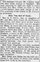 Report of the story of Lusitania survivor Helen Smith (2). Cambrian Daily Leader 10 May 1915