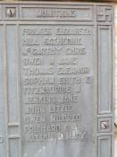 Name of Dorothy Mary Watson on Swansea Cenotaph
