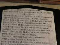 Name of Matron Jane M Jones, Llandeiniol Church