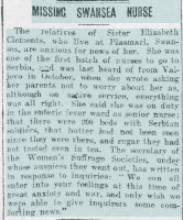 Newspaper report, Cambrian Daily Leader, 18 December 1915