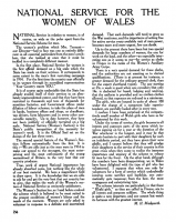Margaret Mackworth's article on National Service for Welsh women, in the periodical Welsh Outlook, vol 4, no 7, July 1917.