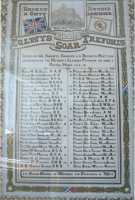Record of the war service of Nurse M J Evans on the Roll of Honour of Soar Chapel,  Treforest